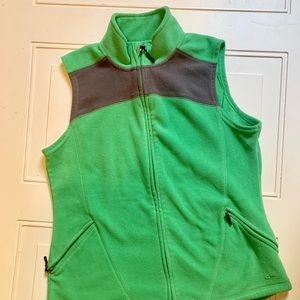 Champion fleece green vest with gray